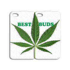 Pair Case Best Friend Best Buds 420 Funny Cute iPhone Case 4, 4s, 5, 5s, 5c