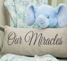 twin miracles baby pillow, twins, twin nursery, twin baby shower, twin quotes, twin gifts
