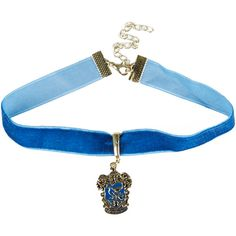 WB Harry Potter Ravenclaw Choker (€7,45) ❤ liked on Polyvore featuring jewelry, necklaces, harry potter, chokers, accessories, multi, pendant necklaces, choker pendants, blue choker and velvet choker necklace