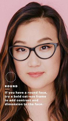 4da74a8bb9e A Visual Guide to Finding the Perfect Pair of Glasses for Your Face Shape ·  Eyeglasses For Round ...