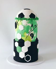Soccer Birthday Cake Soccer Ball birthday cake made with Satin Ice & Nobody Hates Cake The post Soccer Birthday Cake appeared first on Pink Unicorn. Healthy Birthday, Happy Birthday, Boy Birthday, Cake Birthday, Raspberry Smoothie, Apple Smoothies, Soccer Ball Cake, Soccer Cakes, Football Cakes