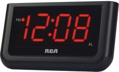 "Rca - Alarm Clock with 1.4"""" Red Display Case Pack 12"