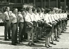 LASD female uniforms in the past included short skirts and purses (for the deputies' guns)!