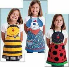 Trendy sewing patterns for kids apron Sewing Hacks, Sewing Crafts, Sewing Projects, Sewing Patterns For Kids, Sewing For Kids, Apron Patterns, Dress Patterns, Quilt Patterns, Childrens Aprons