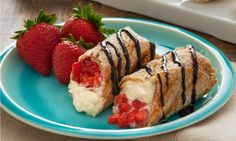 Grilled Strawberry Cheesecake Burritos Recipe for your George Foreman Grill - The Daily Mail - Sweet, warm grilled burritos are perfect for breakfast, an afternoon snack, or even a late-night snack