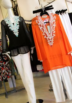 Kareena's handmade tunics are a must for any woman's wardrobe. Handmade from the finest silks and cottons. Very versatile and can be worn from the beach to the night club as a fabulous dress, beach cover up, as well as a top with leggings or denim! Sure to be seen from the beaches of Malibu to the nightlife of Hollywood. Whether you prefer heels or flip flops. Jo and Grace $159
