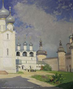http://www.russianfineart.com/catalog/prod?productid=25354 Uspensky Cathedral Of Rostov Kremlin oil canvas  Russian Master Gorbunov Konstantin