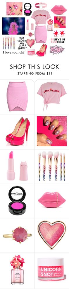 """JEM IS TRULY OUTRAGEOUS!!!!"" by supernova-1000 ❤ liked on Polyvore featuring JEM, River Island, Christian Louboutin, Manic Panic NYC, Suzywan DELUXE, Ippolita, Too Faced Cosmetics and Marc Jacobs"