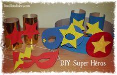 Un tuto pour créer toute une panoplie du Super Héros : masques, bracelets et autres accessoires pour se transformer en super héros. Pour garçons & filles !