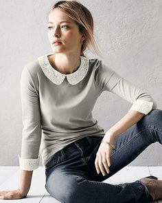 Faux-Layered Knit Top