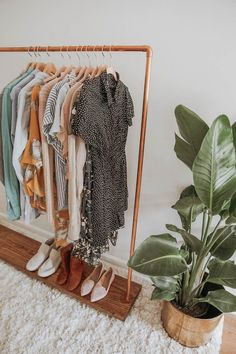 Hand Built Clothing Rack (Copper) – In Honor of Design Bedroom Inspo, Bedroom Decor, Made Clothing, Patio Furniture Sets, Curtains With Blinds, Dressing Room, My Room, Different Styles, Decoration