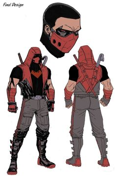 I suppose this is the new design for Jason Todd/Red Hood. I kinda like it. It puts the Red Hood in Red Hood. Not a huge fan of the face… Red Hood Costume, Red Hood Cosplay, Dc Comics Tattoo, Nightwing, Batgirl, Comic Character, Character Concept, Comic Books Art, Comic Art
