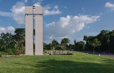 underground chapel in mexico by cabrera arqs invites people of different religious backgrounds Urban Architecture, Willis Tower, Small Towns, Landscape Design, Mexico, Precast Concrete Slabs, Earth, Enjoy The Silence, Building