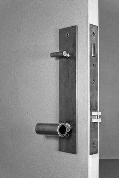 Front door - tKnobler + Plate Entry Door Handle Set