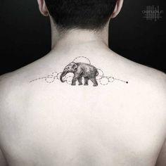 Gorgeous Elephant Tattoo by Okan Uckun