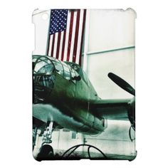 Patriotic Military WWII Plane with American Flag Case For The iPad Mini