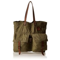 """Will Leather Goods Small Army Tote New with tags Will Leather Goods Small Army Tote. Made from US army surplus canvas and vintage leather. Measures 17"""" by 15""""  each bag is a one of a kind. Comes with a travel pillow. Will leather goods Bags Totes"""