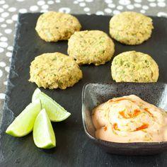 Salmon-chickpea sliders with sriracha-lime dipping sauce   Recipe Renovator   Gluten-free, migraine-friendly