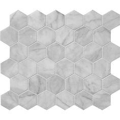 Avenza Honed Hexagon Marble Mosaics 10 3/8x12