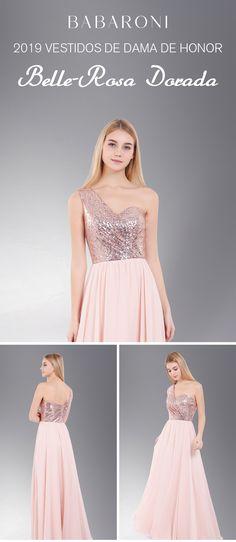 a10c9f806 Los detalles alrededor de este vestido crean un impresionante escote de un  hombro y una lentejuela
