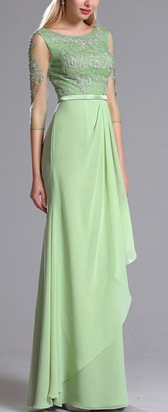 eDressit Green Mother of the Bride Dress with Lace Appliques