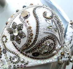 Perfectly Beautiful Belly Dance Bra beaded sequined by PoisonBabe