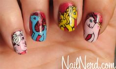 Old fashion mlp nails