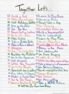 Done most of these but would <3 to keep a checklist