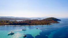 Blue Water in Vourvourou Halkidiki Amazing Landscape..