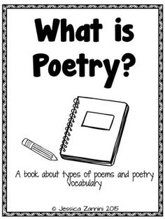 Poetry Writing Booklet | Pinterest | Poetry unit, Free printable and ...