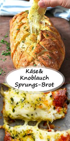 Cheese and garlic crack bread- Käse-und Knoblauch-Sprungs-Brot Cheese and garlic crack bread - Healthy Appetizers, Appetizers For Party, Easy Healthy Recipes, Healthy Snacks, Easy Meals, Pizza Recipes, Beef Recipes, Salad Recipes, Cooking Recipes