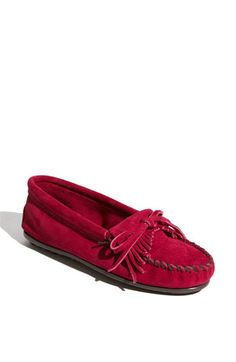 i keep going back and forth about getting a pair of Minnetonkas...and if i did, should i get basic brown or these fuschia ones?!