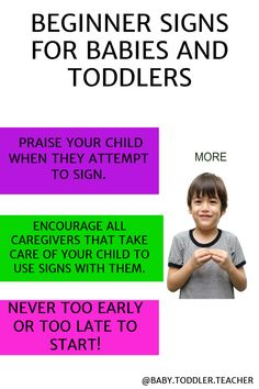 Are you trying to teach your baby sign language? Teaching baby signs has lots of benefits and is a great tool for new parents. Find out how to get started teaching your baby sign language. Teaching Baby Sign Language, Teaching Babies, Baby Play, Infant Play, Best Baby Toys, Baby Information, Baby Development, Baby Milestones, Work From Home Moms