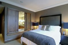 cool bedroom with headboard