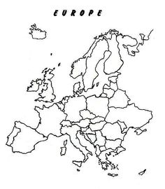 Blank Political Europe Map Outline Map Europe - Europe political map outline printable
