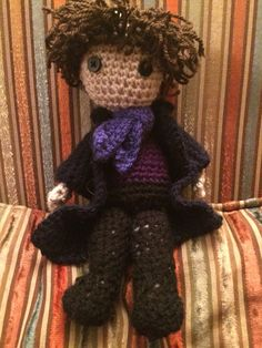 Sherlock crocheted doll