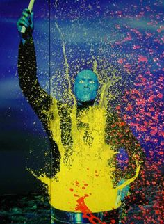 blue man group color theory and landing pages