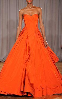 Zac Posen | Orange Taffeta Gown