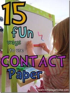 15 ways to use contact paper in kids activiites and crafts for kids perfect for Preschool age kids