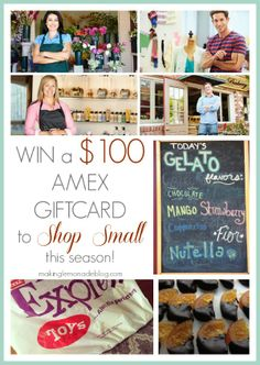 Small Business Saturday + $100 Giveaway! www.makinglemonadeblog.com #smallbusinesssaturday #giveaway