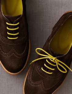 Hooray for back-to-school shoes! These should arrive today! Suede Brogues from Boden USA