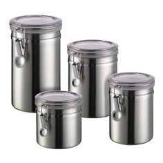 Brushed Stainless Steel Canisters for flower, sugar, ect..