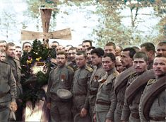 Burial of a fallen russian soldier 1916 WWI