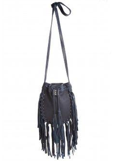 Wild Leather Fringe Crossbody Bag