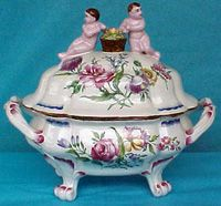 "French Faience Tureen Marseilles, 11"", c. 1890"