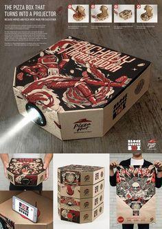 La caja de pizza que se convierte en proyector de cine