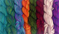 Colour pack of Hand Painted Lace yarn from Artesano Yarns #lace #silk #colourpacks #lacey #knitting #crochet #weaving #weave #felting #alpaca #yarn #wool #alpacasilk #knit #handpainted #variegated #spacedyed #handdyed #handdying #handdye