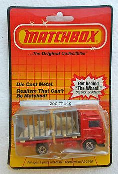1981 Lesney Matchbox Superfast #35 VOLVO RED W/ GREY CAGE ZOO TRUCK Mint On Card - http://www.matchbox-lesney.com/?p=16630