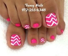 This Cool summer pedicure nail art ideas 35 image is part from 75 Cool Summer Pedicure Nail Art Design Ideas gallery and article, click read it bellow to see high resolutions quality image and another awesome image ideas. Get Nails, Fancy Nails, Love Nails, Hair And Nails, Pedicure Nail Art, Toe Nail Art, Hot Pink Pedicure, Nail Design, Nail Arts
