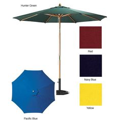 Lauren & Company Premium Round Patio Umbrella with Heavy-Duty Stand